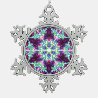 Ornamento luminoso del copo de nieve de la variaci