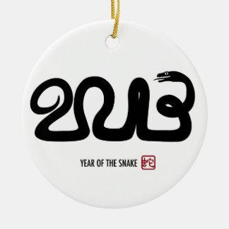 Ornamento lunar chino del Año Nuevo 2013 Adorno Navideño Redondo De Cerámica