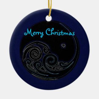 Ornamento lunar del navidad de la marea ornato
