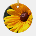 Ornamento macro observado negro de la flor de Susa Ornamento De Reyes Magos
