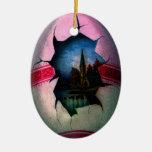 Ornamento mágico antiguo de la escena del huevo de ornaments para arbol de navidad