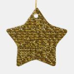 Ornamento mágico de la estrella del brillo adorno de cerámica en forma de estrella
