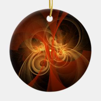Ornamento mágico del círculo del arte abstracto de adorno navideño redondo de cerámica