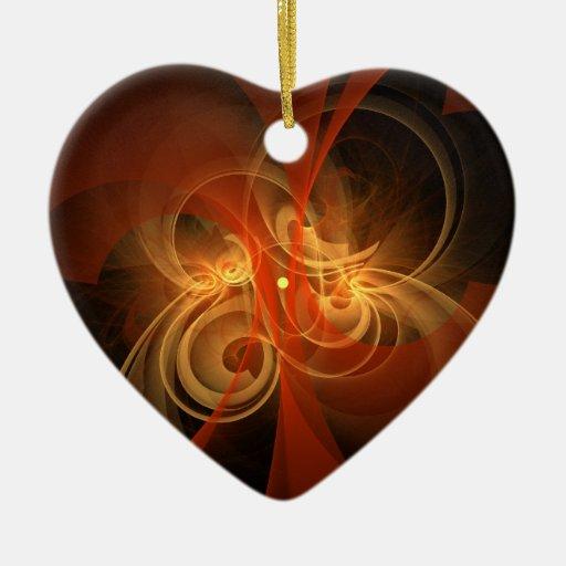 Ornamento mágico del corazón del arte abstracto de ornamentos para reyes magos