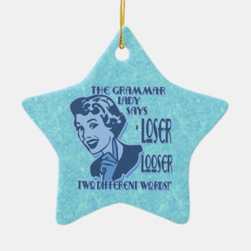 Ornamento más flojo y del perdedor azul de la adorno navideño de cerámica en forma de estrella
