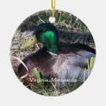 Ornamento masculino del pato del pato silvestre de adorno de navidad