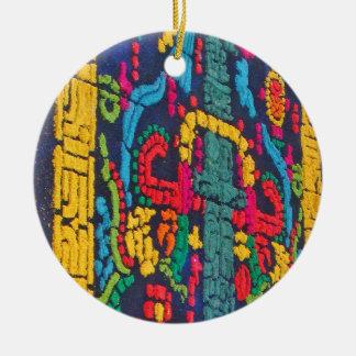 Ornamento maya 1 del diseño adornos de navidad