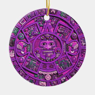 Ornamento maya del calendario ornamento para arbol de navidad