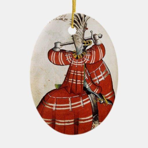 Ornamento medieval del caballero adorno para reyes