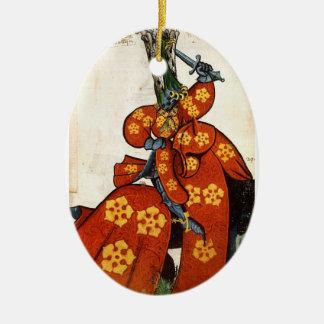 Ornamento medieval del caballero ornamentos para reyes magos