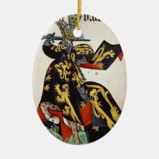 Ornamento medieval del caballero ornamentos de navidad
