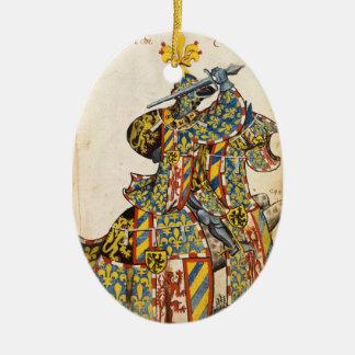 Ornamento medieval del caballero ornato