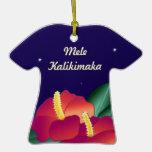 Ornamento Mele Kalikimaka de la camisa del camiset Adorno Para Reyes