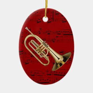 Ornamento - Mellophone - escoja su color Adorno Navideño Ovalado De Cerámica