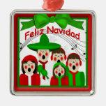 Ornamento mexicano de la familia cinco de los adorno para reyes