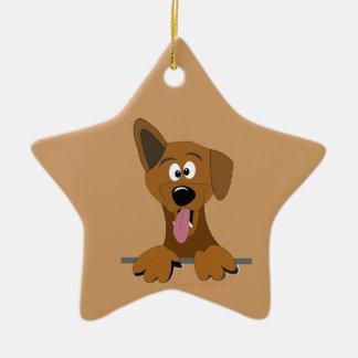 Ornamento mezclado Mutt divertido del perro del Po Ornamento De Navidad