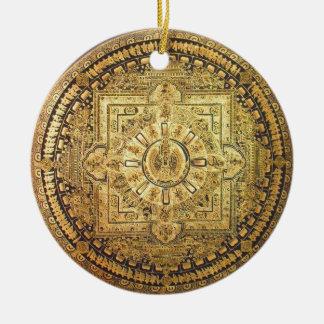 Ornamento Mil-Armado de Avalokiteshvara Adorno Redondo De Cerámica