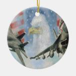 Ornamento militar americano de los aeroplanos ornamentos para reyes magos