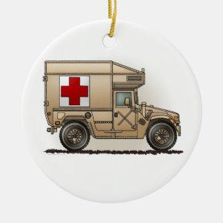 Ornamento militar de la ambulancia de Hummer Adorno Redondo De Cerámica