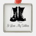 Ornamento militar del recuerdo del veterano del adorno navideño cuadrado de metal