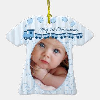 Ornamento minúsculo de la foto de la camiseta del