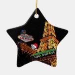 Ornamento minúsculo del ratón de Las Vegas de las  Adornos De Navidad