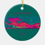 ornamento modificado para requisitos particulares adorno navideño redondo de cerámica