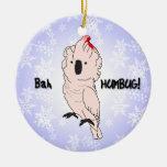 Ornamento moluqueño del navidad del Cockatoo del e Adorno De Reyes