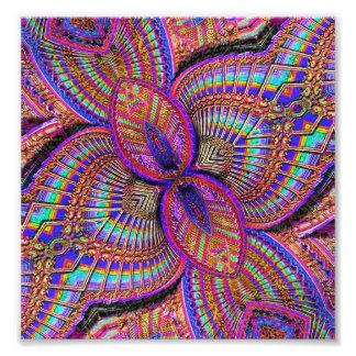 Ornamento multicolor de la fantasía impresion fotografica