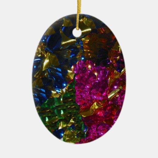 Ornamento multicolor del óvalo de la mezcla adorno navideño ovalado de cerámica