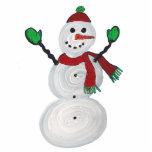 Ornamento - muñeco de nieve esculturas fotograficas