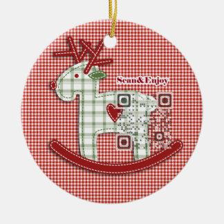 Ornamento musical de la foto de los ciervos de ornamento para arbol de navidad