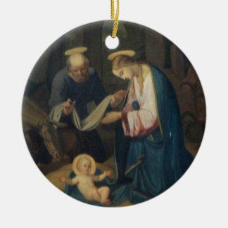 Ornamento: Nacimiento de Cristo Adorno Redondo De Cerámica