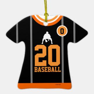 Ornamento negro anaranjado de la camiseta del adorno de cerámica en forma de playera
