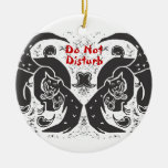 Ornamento negro de los dragones ornamentos para reyes magos