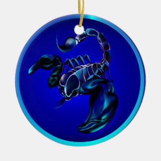 Ornamento negro del escorpión ornaments para arbol de navidad