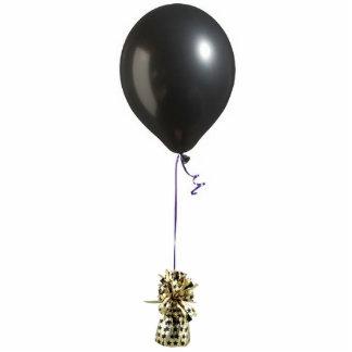 Ornamento negro del globo 1 adorno fotoescultura