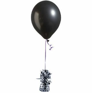 Ornamento negro del globo 2 adorno fotoescultura