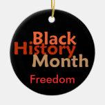Ornamento negro del mes de la historia ornamentos para reyes magos