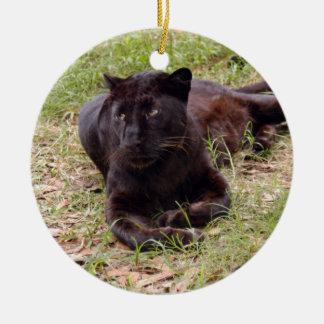 Ornamento negro del navidad del leopardo ornamento para arbol de navidad