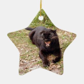 Ornamento negro del navidad del leopardo ornatos