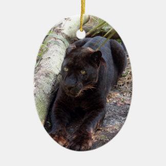 Ornamento negro del navidad del leopardo ornamento de navidad