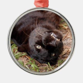 Ornamento negro del navidad del leopardo ornamentos de reyes