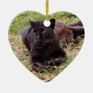 Ornamento negro del navidad del leopardo ornamentos de navidad