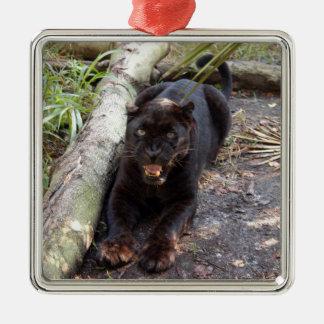 Ornamento negro del navidad del leopardo adorno