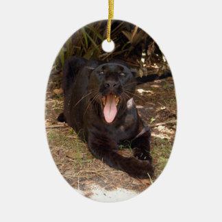 Ornamento negro del navidad del leopardo ornamento de reyes magos