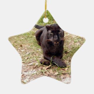 Ornamento negro del navidad del leopardo adorno para reyes