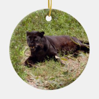 Ornamento negro del navidad del leopardo ornamentos de reyes magos