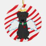 Ornamento negro del perro del navidad del ángel de ornamento para arbol de navidad