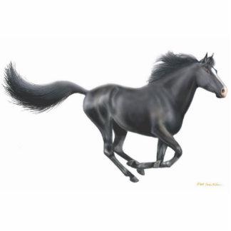Ornamento negro galopante del día de fiesta del ca escultura fotografica
